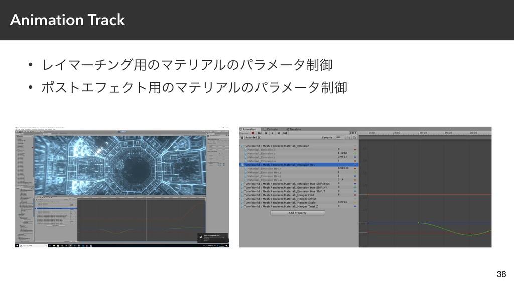 Animation Track • ϨΠϚʔνϯά༻ͷϚςϦΞϧͷύϥϝʔλ੍ޚ • ϙετΤ...