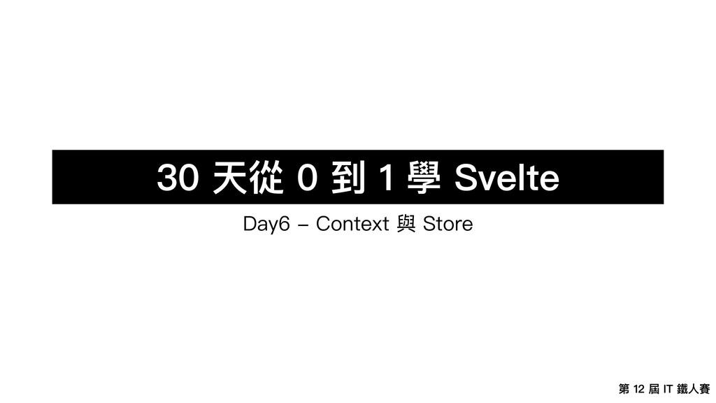 第 12 屆 IT 鐵⼈賽 30 天從 0 到 1 學 Svelte Day6 - Conte...