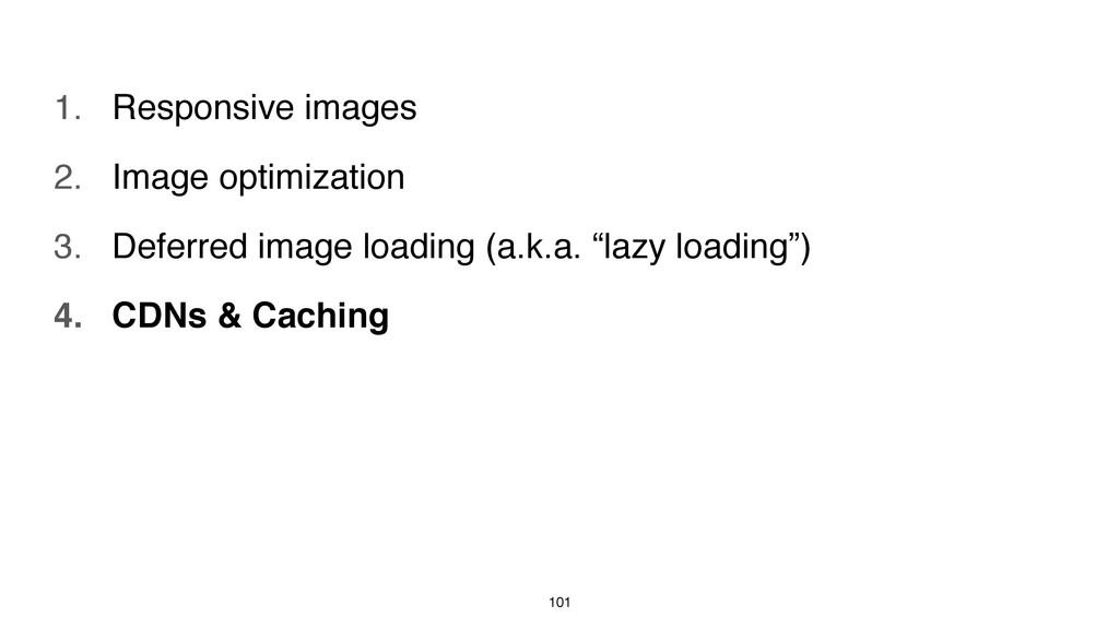 101 1. Responsive images 2. Image optimization ...