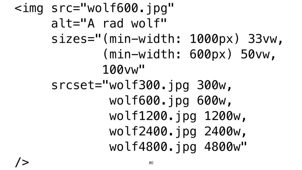 "80 <img src=""wolf600.jpg"" alt=""A rad wolf"" size..."