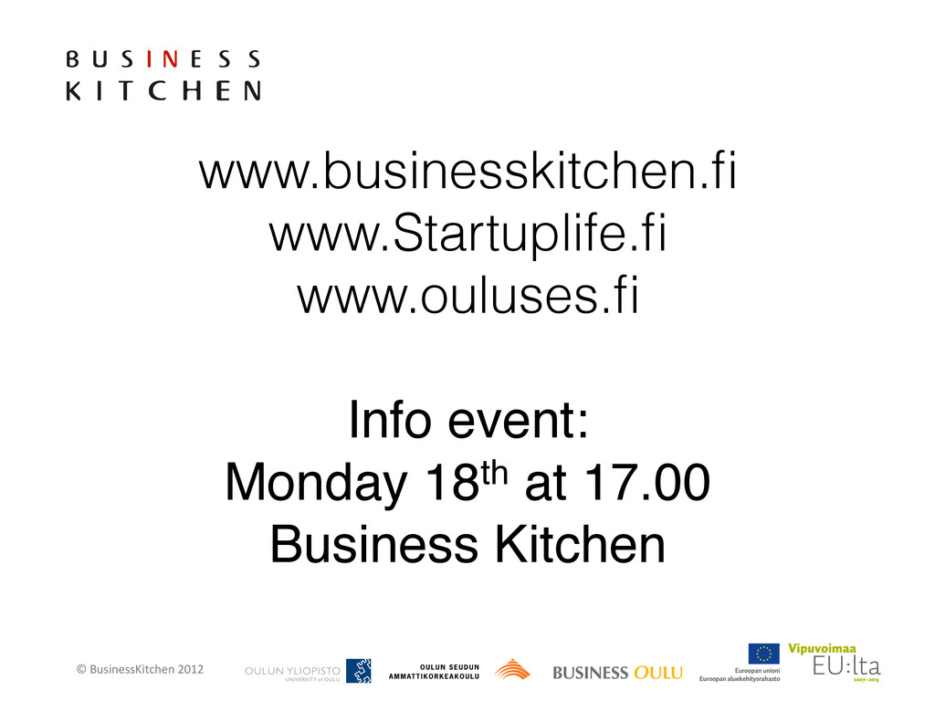 © BusinessKitchen 2012    www.busin...