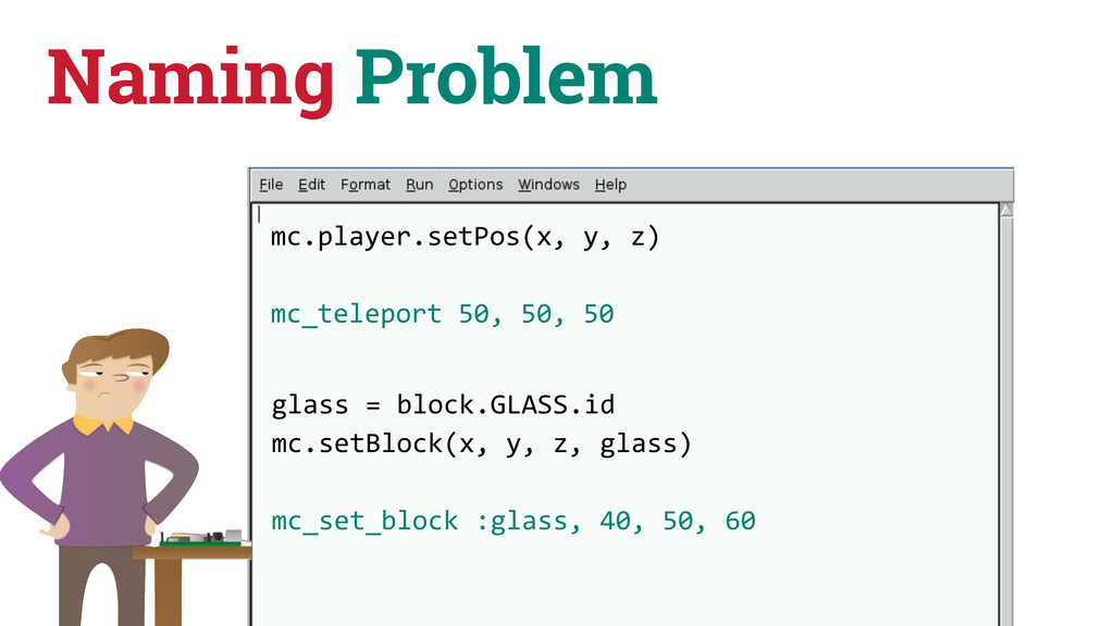 Naming Problem mc.player.setPos(x, y, z)...