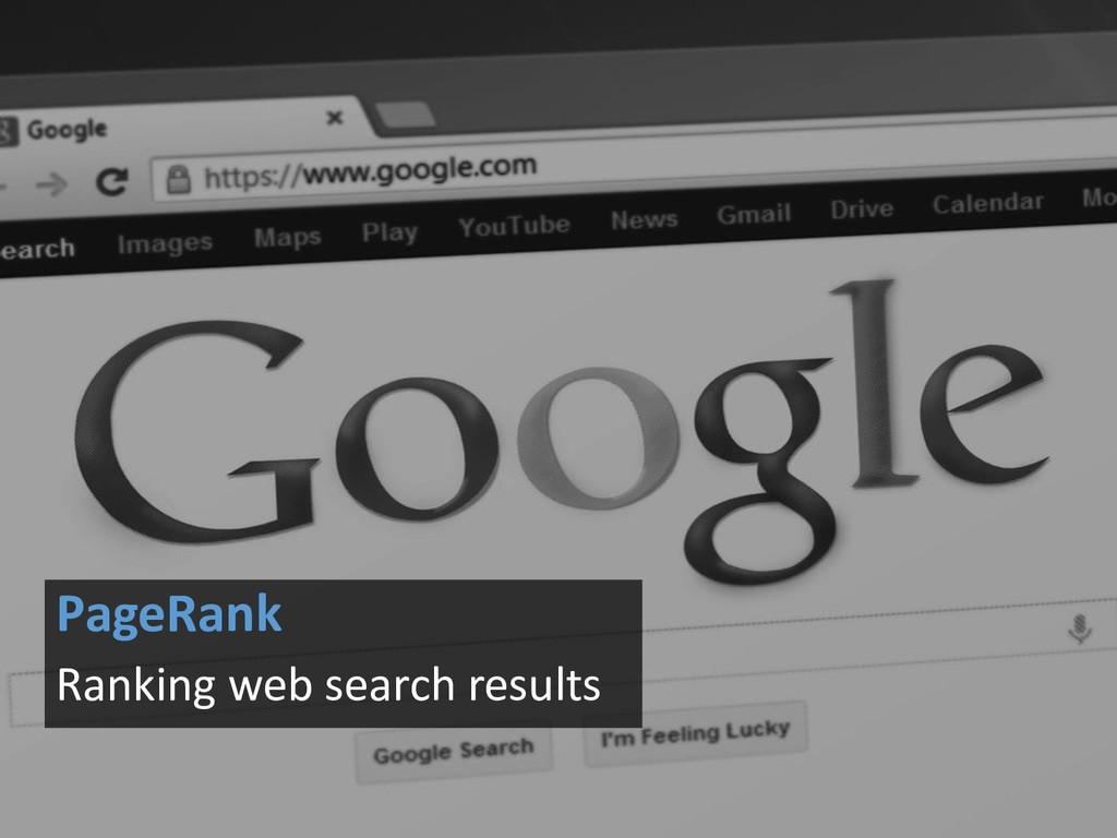 PageRank Ranking web search results