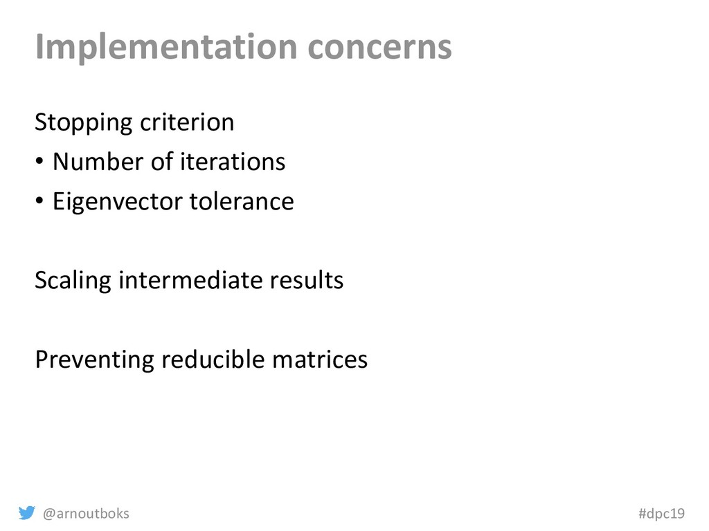 @arnoutboks #dpc19 Implementation concerns Stop...