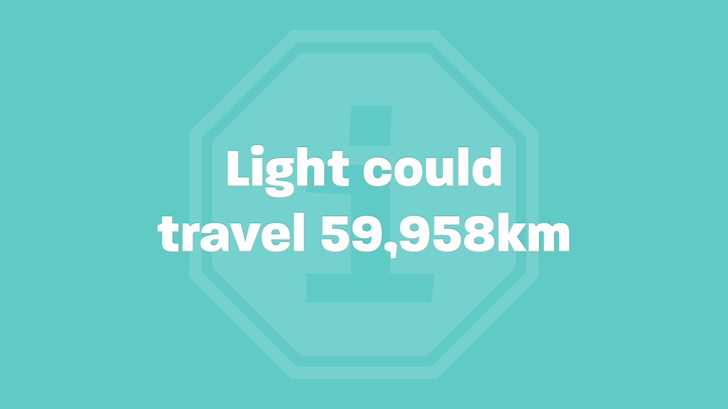 i Light could travel 59,958km