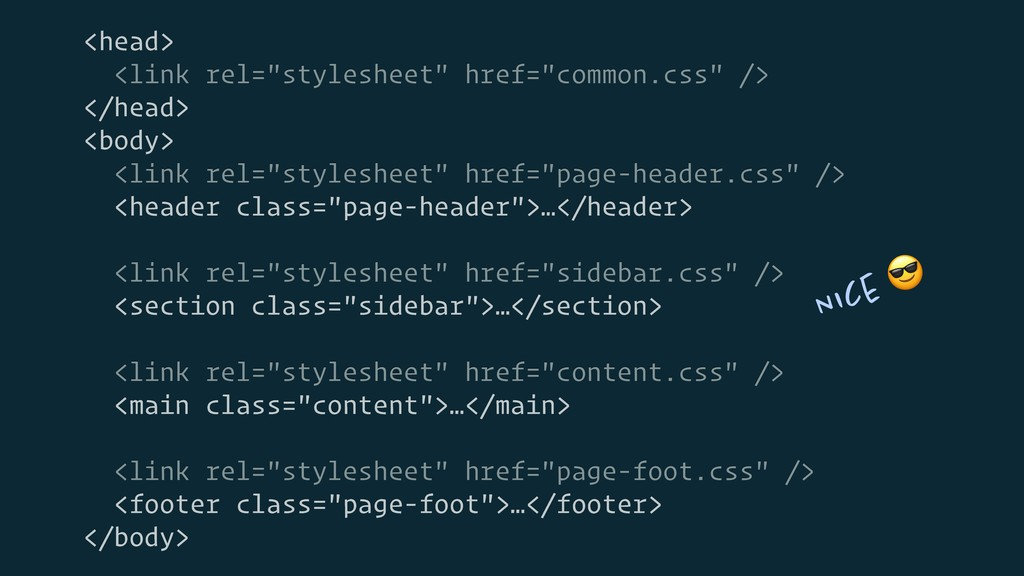 "<head> <link rel=""stylesheet"" href=""common.css""..."