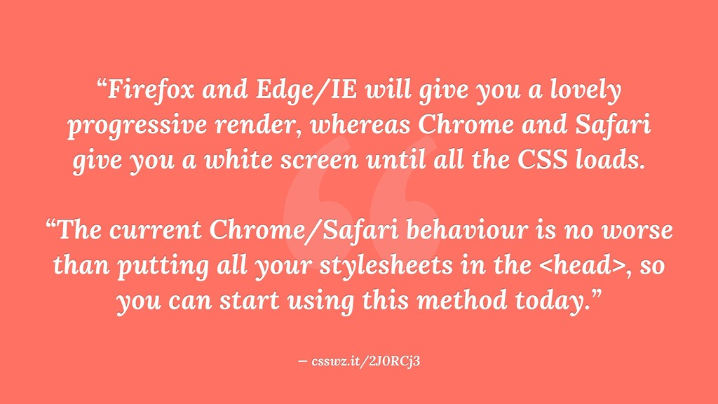 """ ""Firefox and Edge/IE will give you a lovely p..."