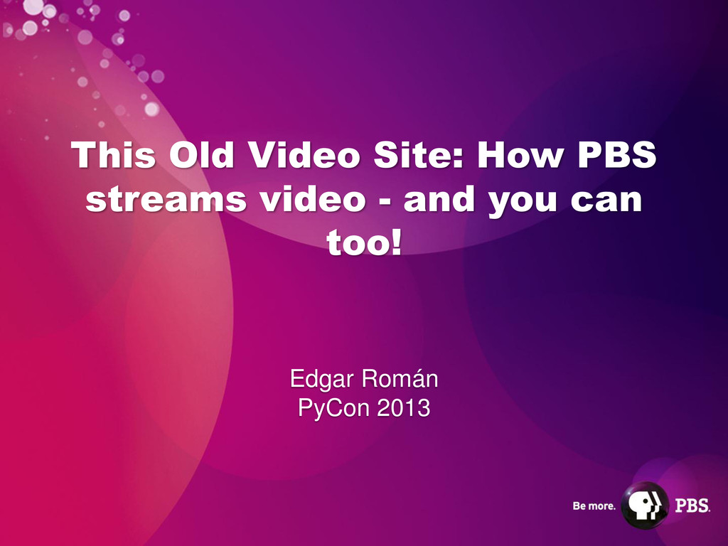 This Old Video Site: How PBS streams video - an...