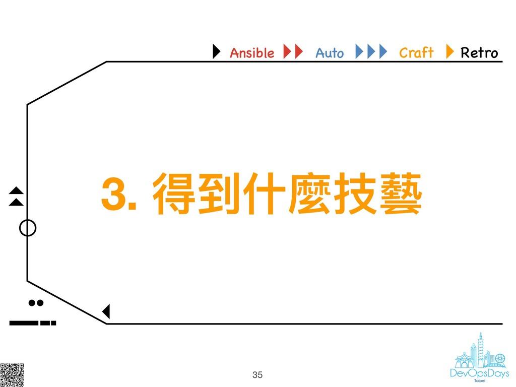 35 Ansible Auto Craft Retro 35 3. 得到什什麼技藝