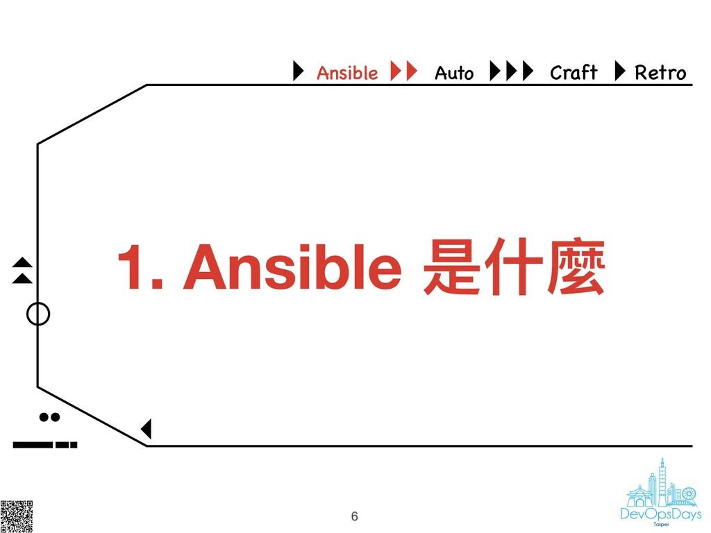 6 Ansible Auto Craft Retro 6 1. Ansible 是什什麼