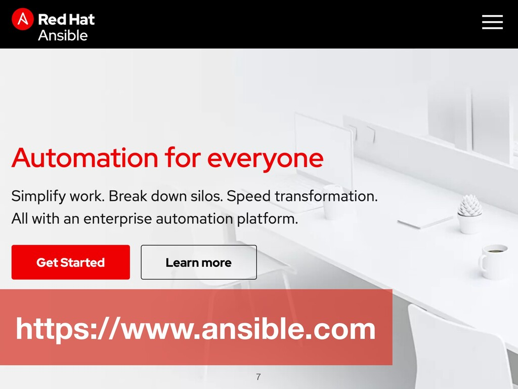 7 https://www.ansible.com