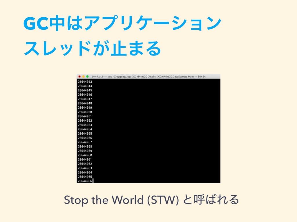 GCதΞϓϦέʔγϣϯ εϨου͕ࢭ·Δ Stop the World (STW) ͱݺ...