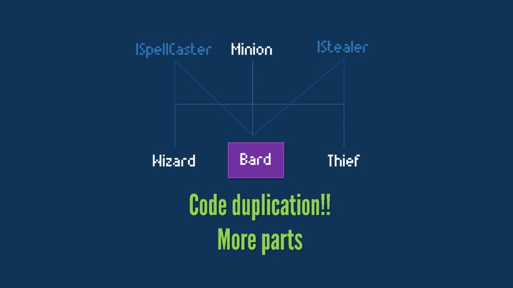 Minion Wizard Thief Bard ISpellCaster IStealer