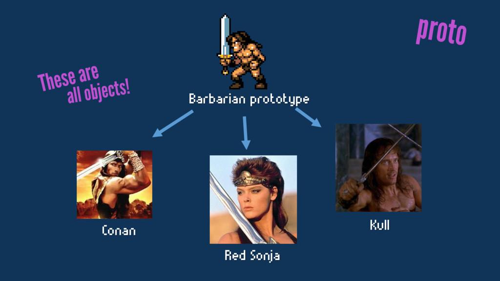 Barbarian prototype Conan Red Sonja Kull