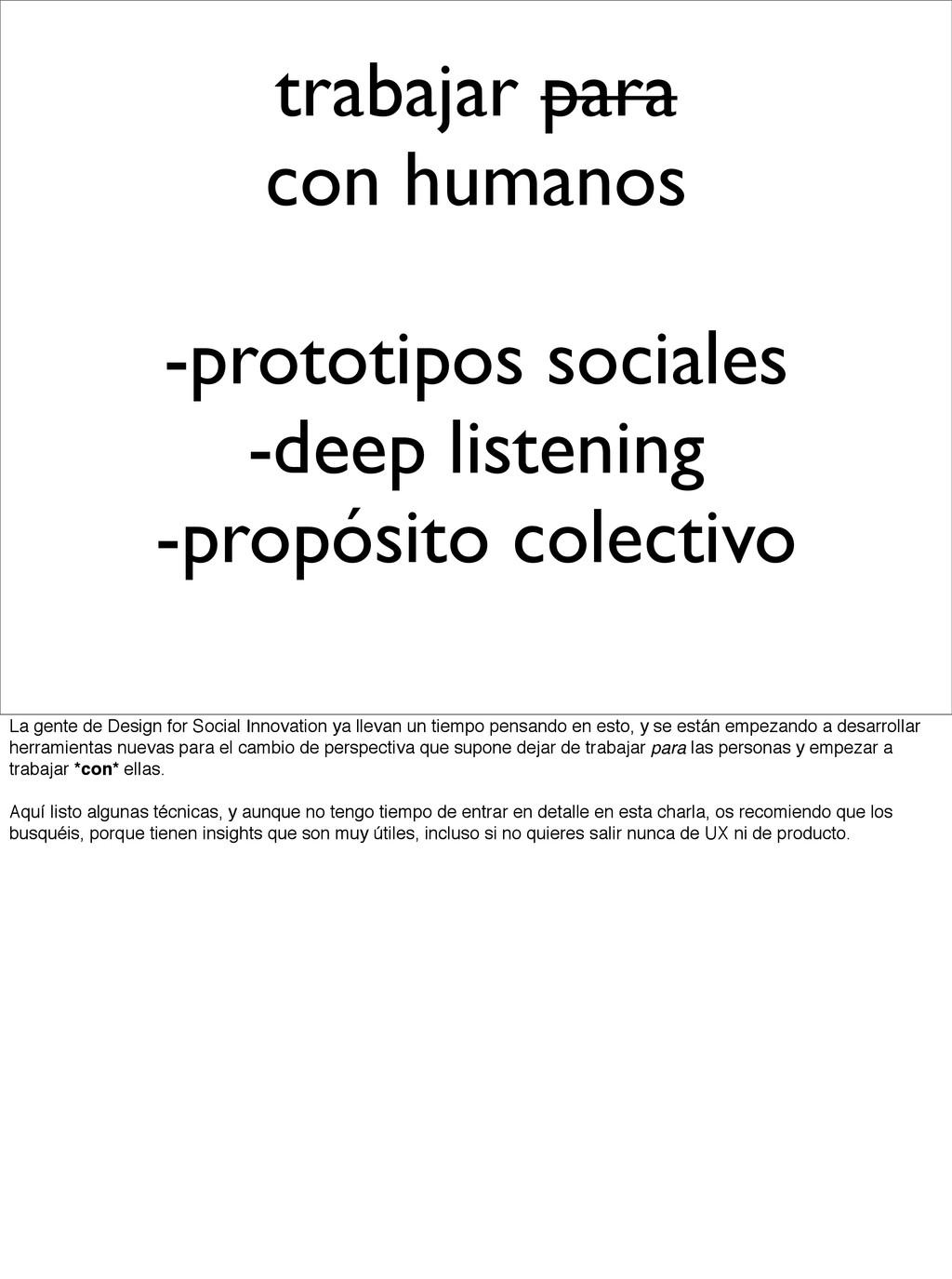 trabajar para con humanos -prototipos sociales ...