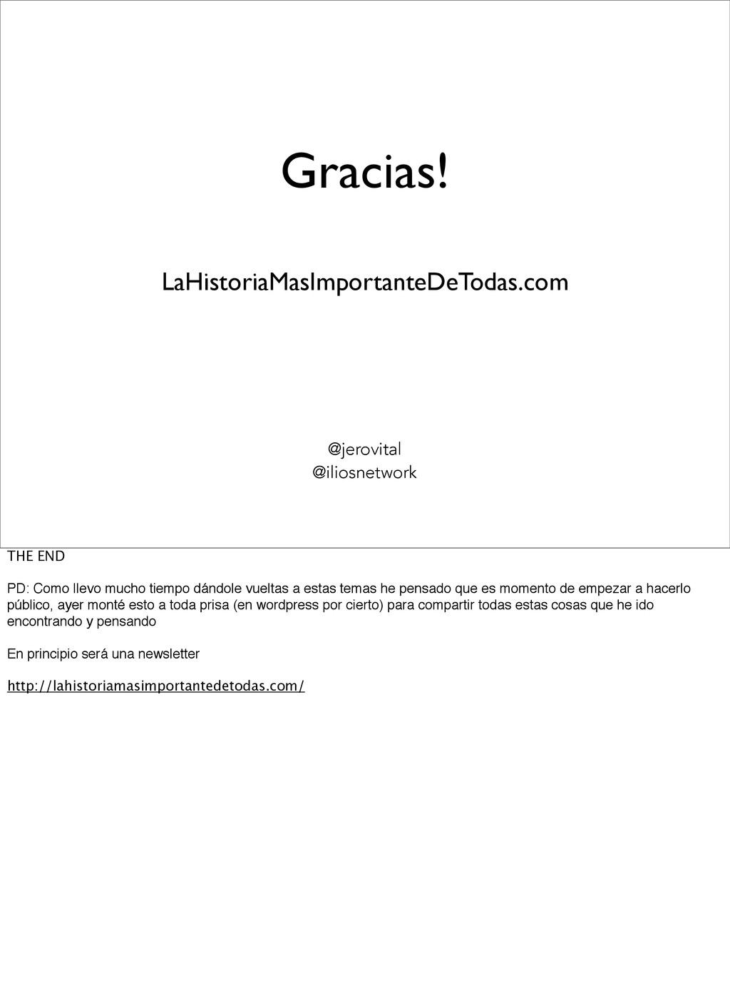 Gracias! @jerovital @iliosnetwork LaHistoriaMas...