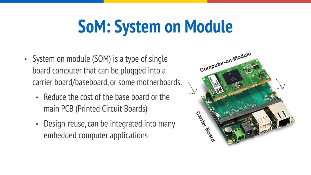 SoM: System on Module • System on module (SOM) ...