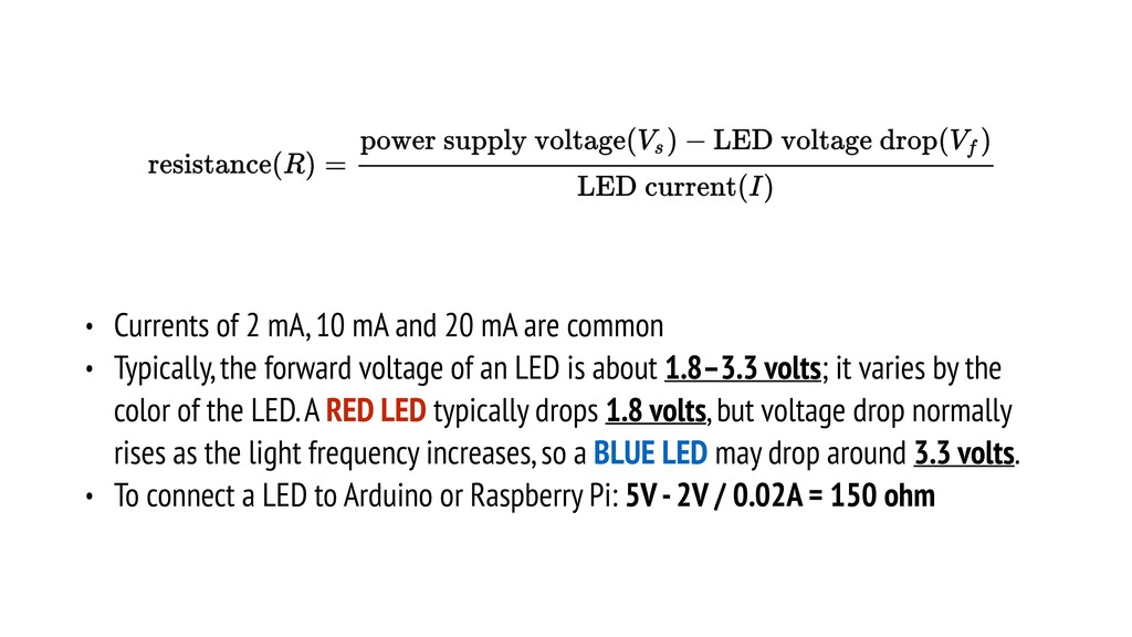 • Currents of 2 mA, 10 mA and 20 mA are common ...