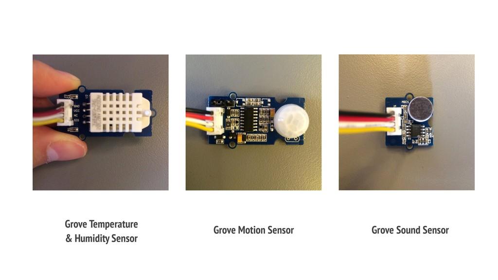 Grove Temperature & Humidity Sensor Grove Motio...