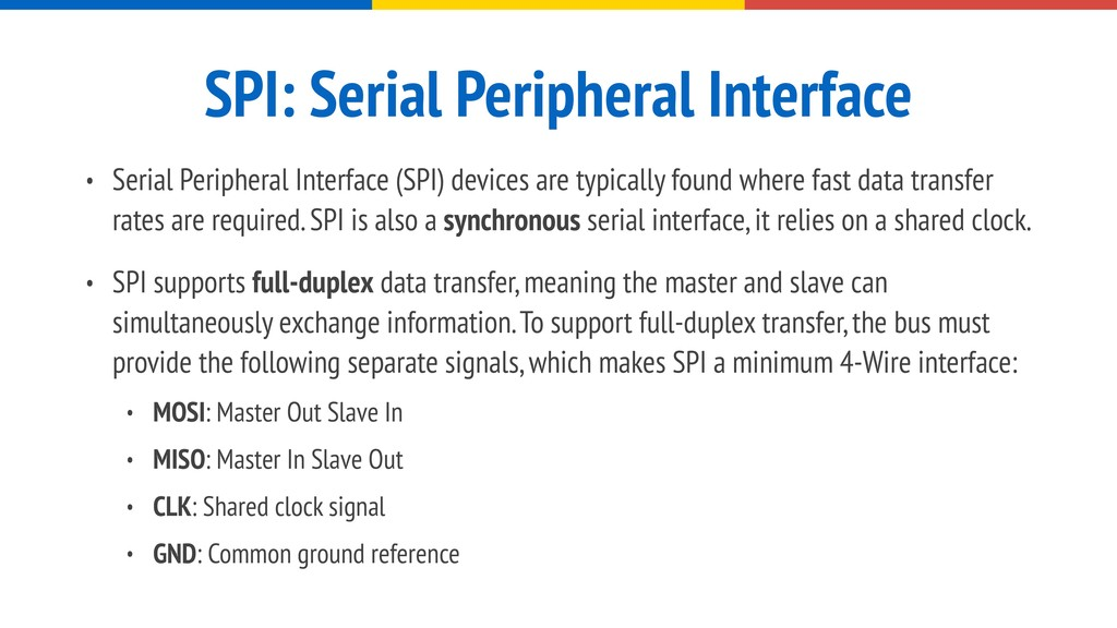 SPI: Serial Peripheral Interface • Serial Perip...