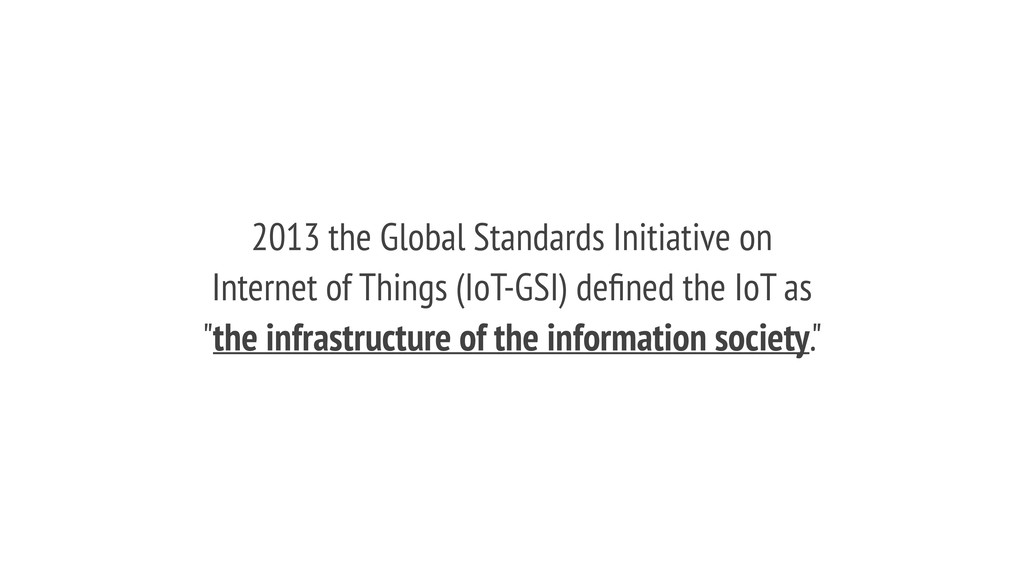 2013 the Global Standards Initiative on Interne...