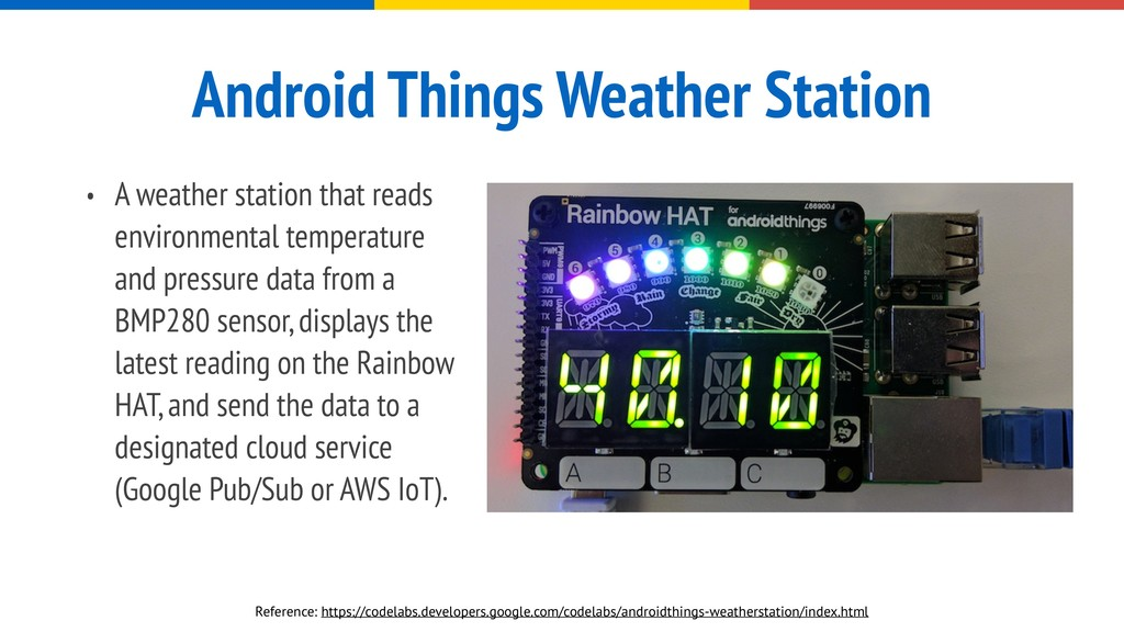 Android Things Weather Station • A weather stat...