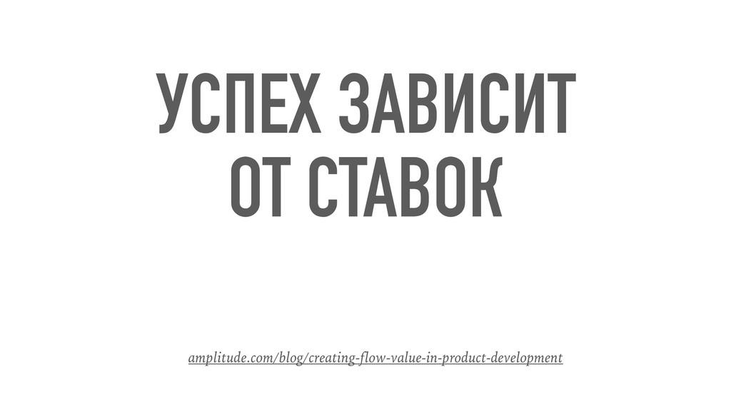 УСПЕХ ЗАВИСИТ ОТ СТАВОК amplitude.com/blog/crea...