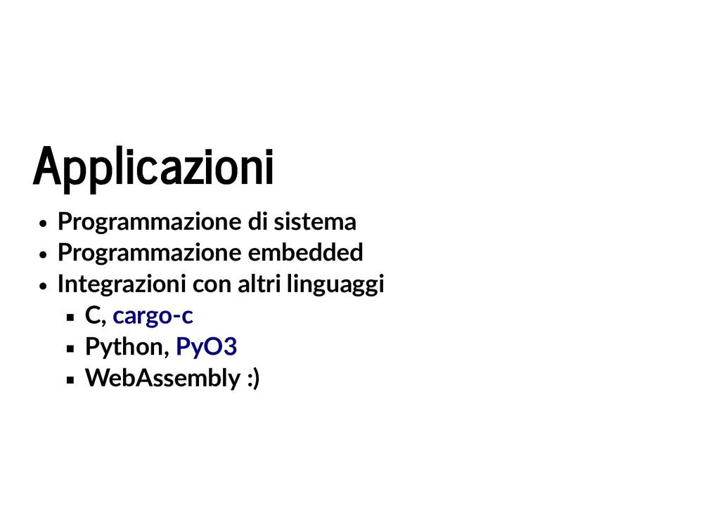 Applicazioni Applicazioni Programmazione di sis...