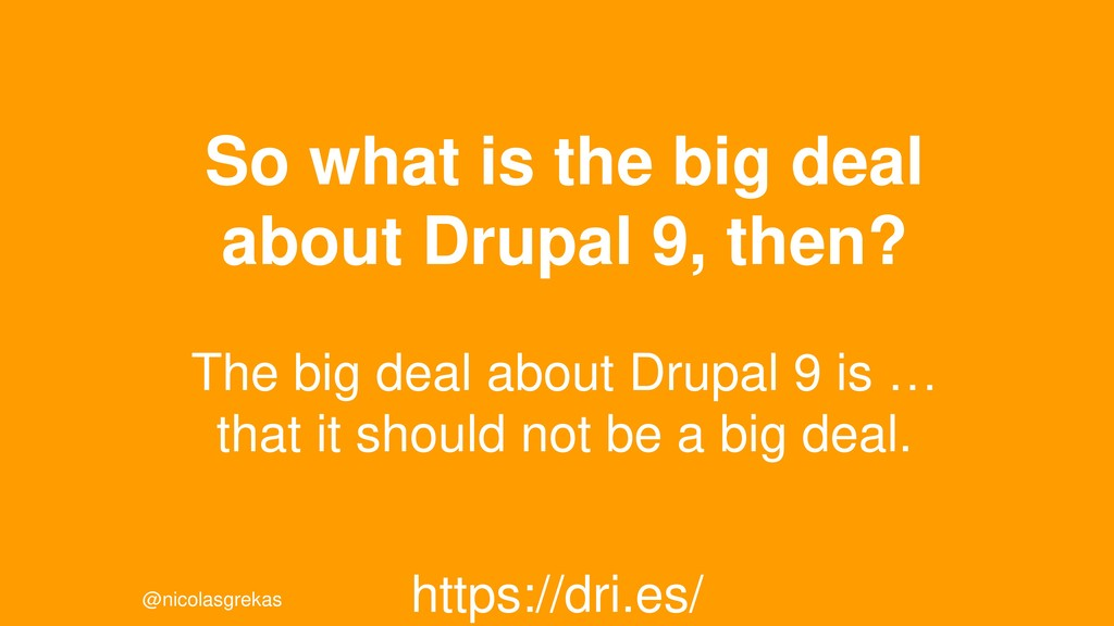 @nicolasgrekas So what is the big deal about Dr...