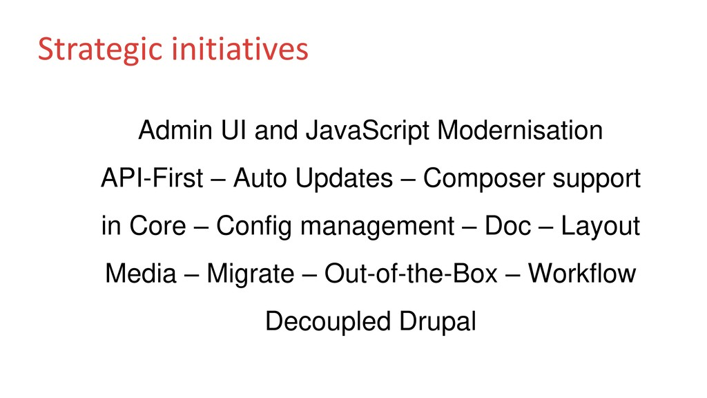 Strategic initiatives Admin UI and JavaScript M...