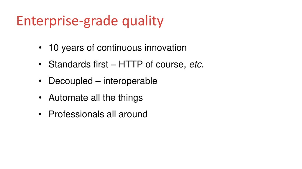 Enterprise-grade quality • 10 years of continuo...