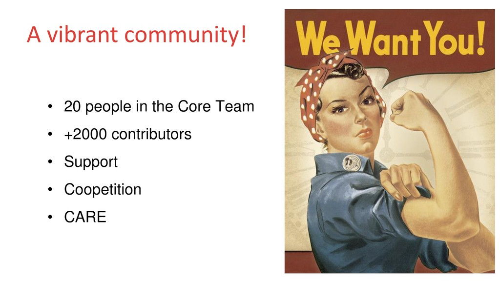 A vibrant community! • 20 people in the Core Te...
