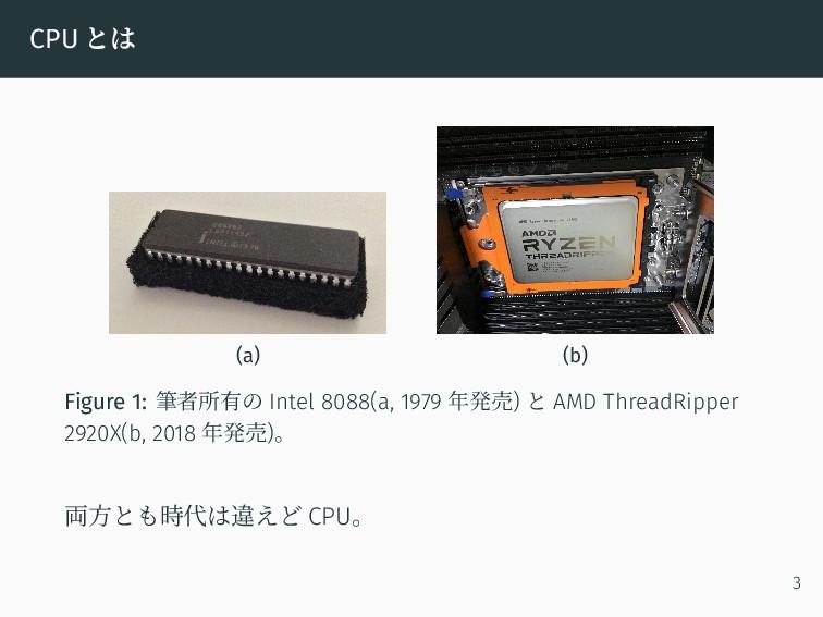 CPU とは (a) (b) Figure 1: 筆者所有の Intel 8088(a, 19...