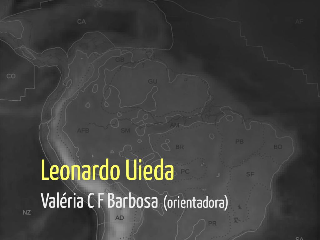 Leonardo Uieda Valéria C F Barbosa (orientadora)