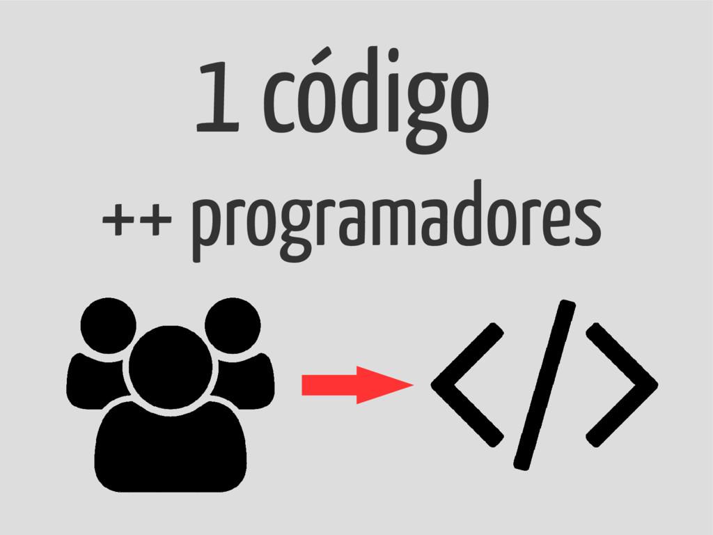 1 código ++ programadores