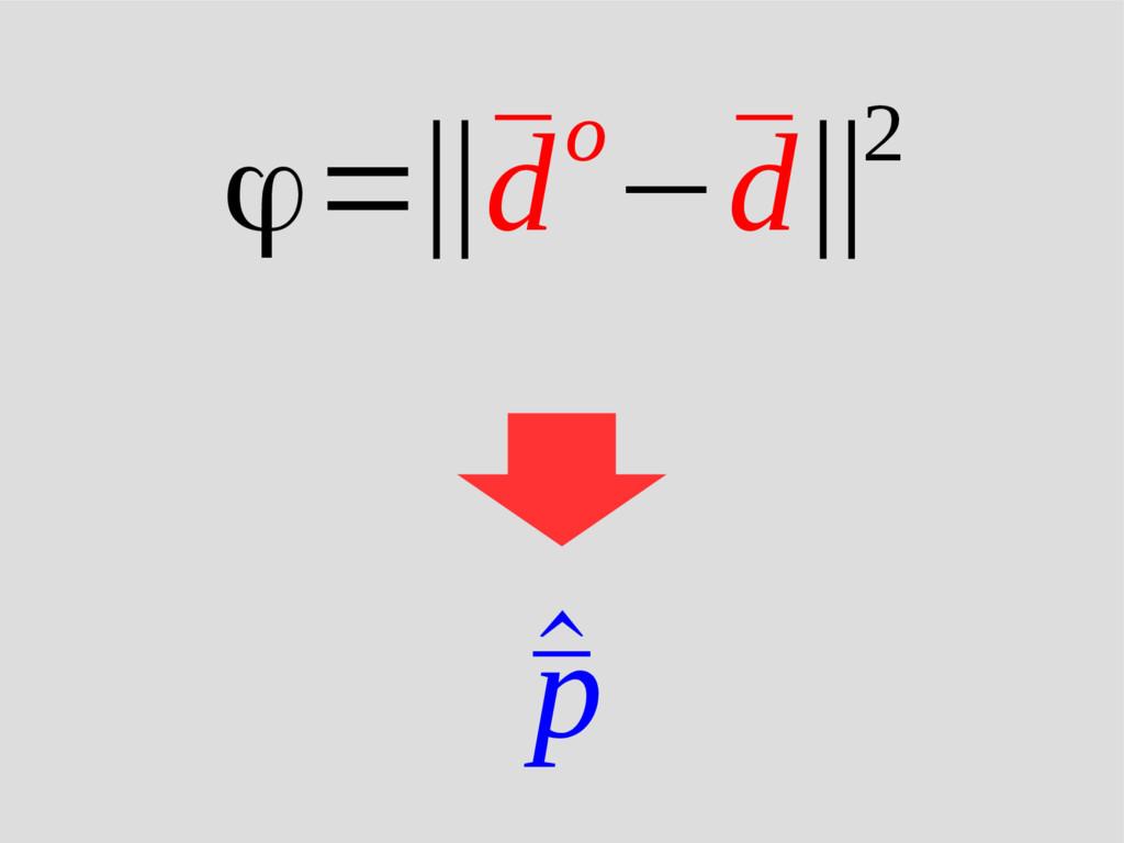 ^ ¯ p ϕ=‖¯ do−¯ d‖2