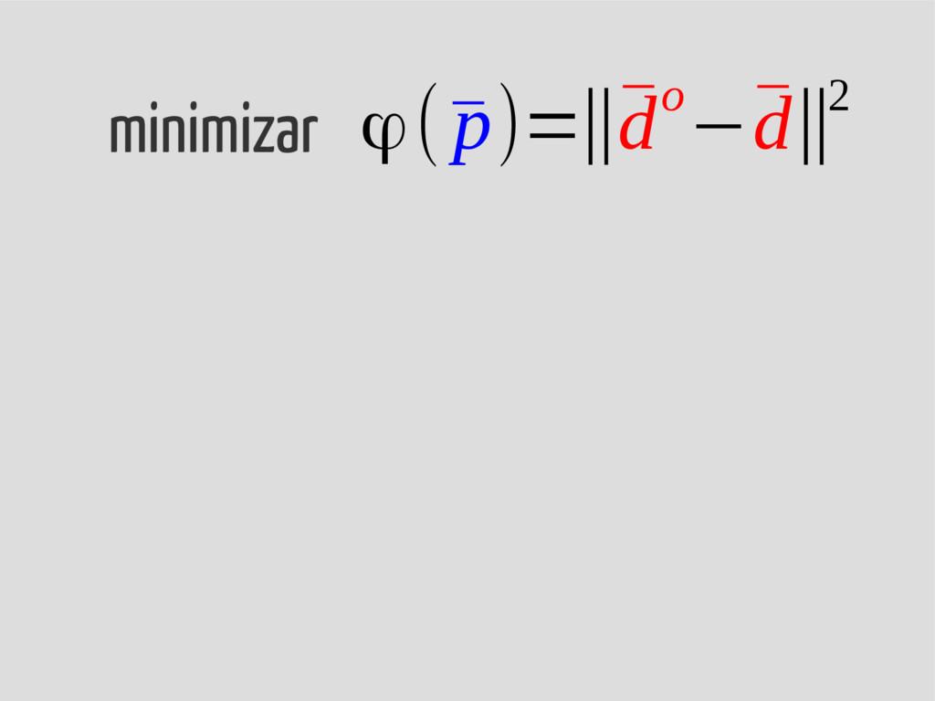 ϕ(¯ p)=‖¯ do−¯ d‖2 minimizar