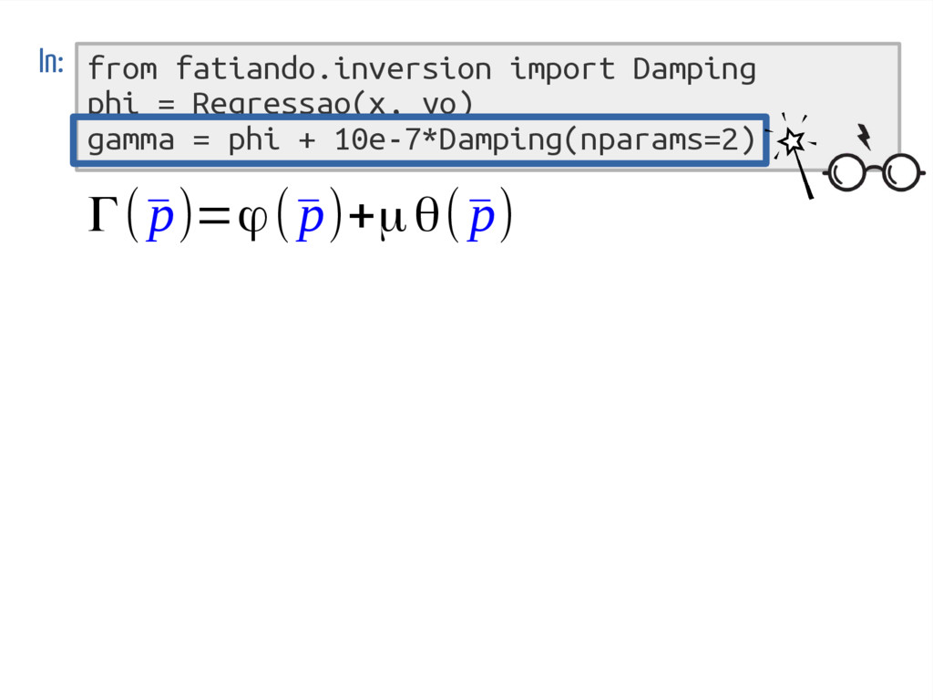 from fatiando.inversion import Damping phi = Re...