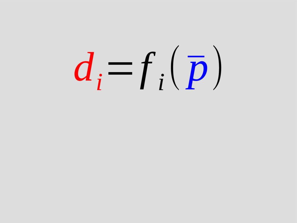 d i =f i (¯ p)