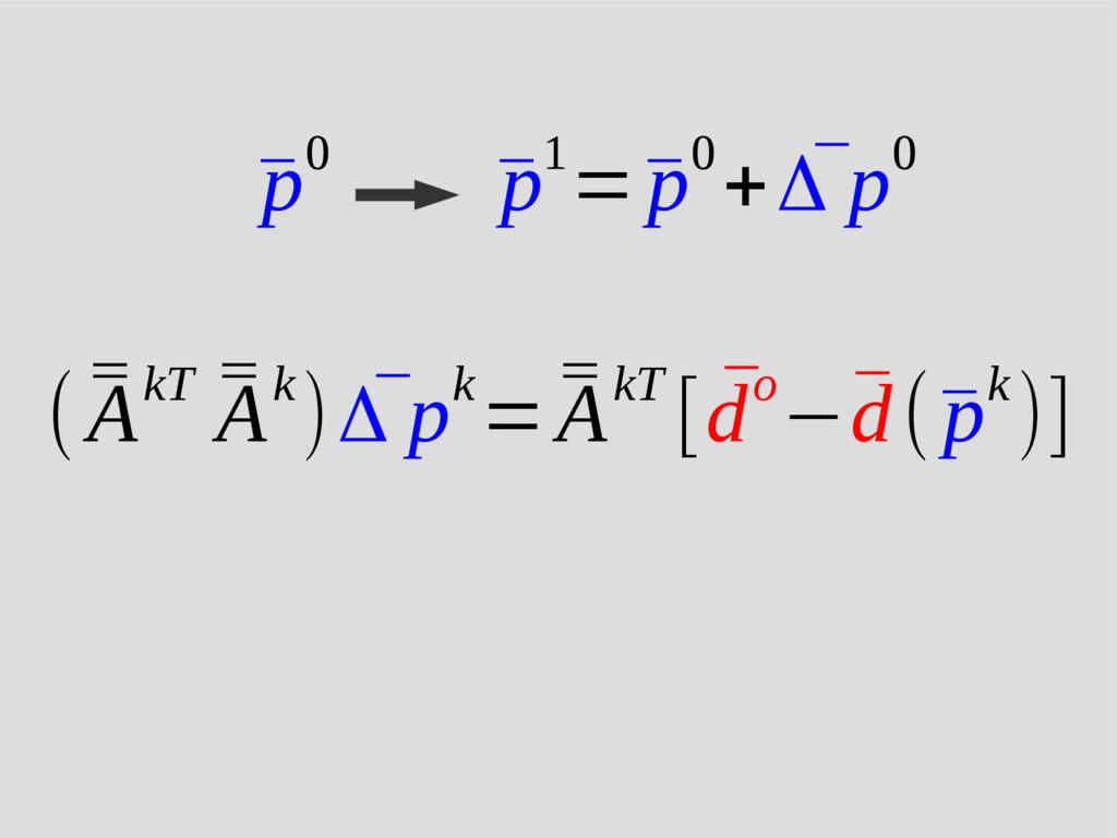 ( ¯ ¯ AkT ¯ ¯ Ak) ¯ Δ pk= ¯ ¯ AkT [ ¯ do−¯ d(¯ ...