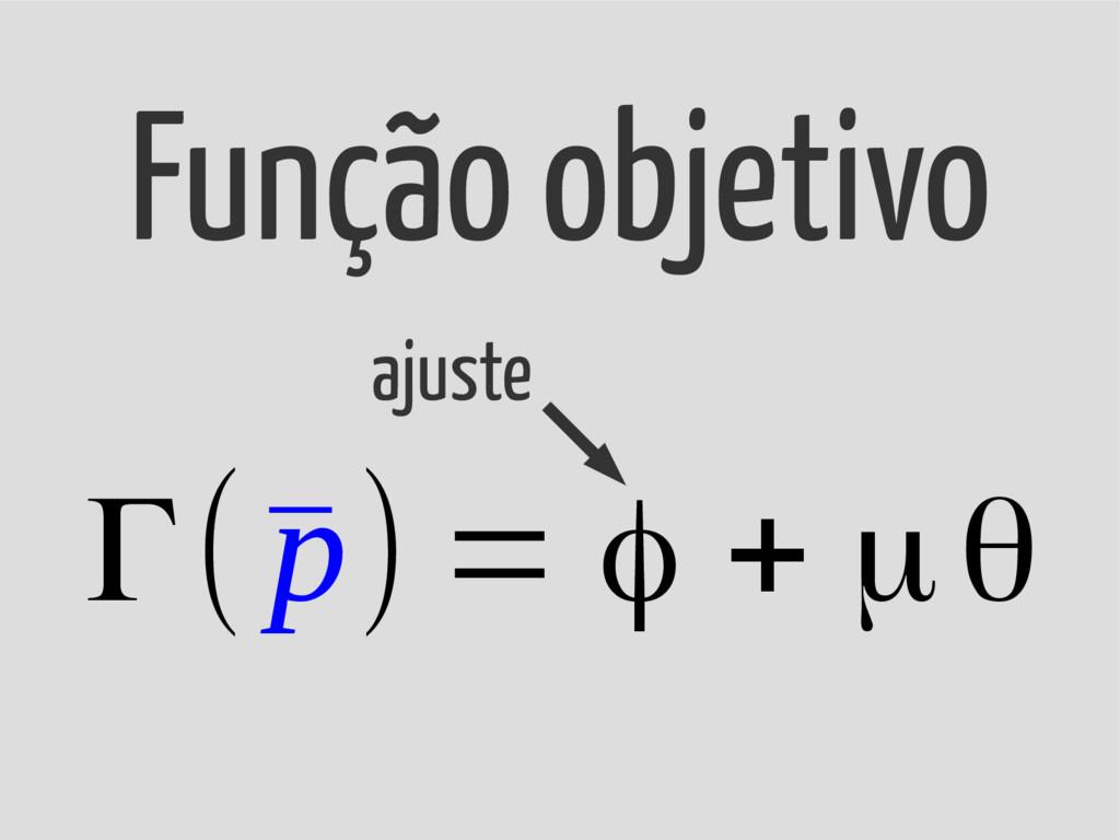 Γ(¯ p) = φ + μθ Função objetivo ajuste