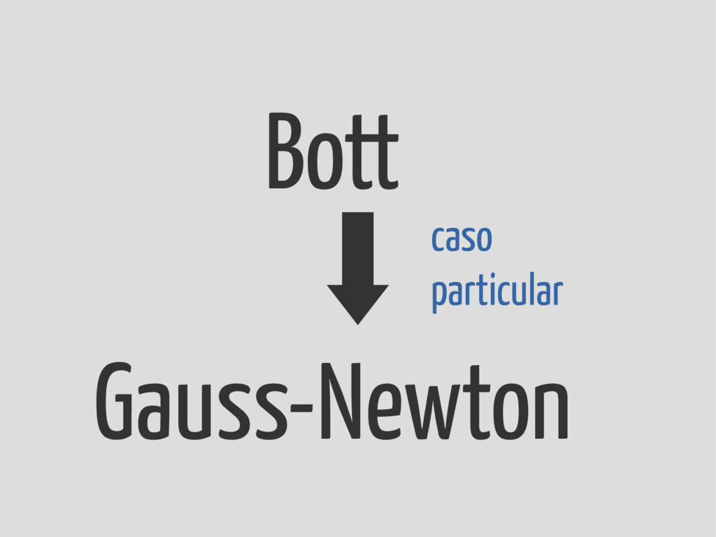 Bott Gauss-Newton caso particular