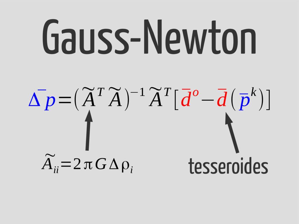 ¯ Δ p=( ~ AT ~ A)−1 ~ AT [¯ do−¯ d(¯ pk)] Gauss...