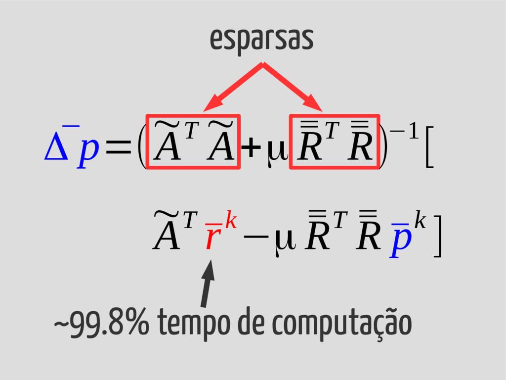 esparsas ~99.8% tempo de computação ~ AT ¯ rk−μ...