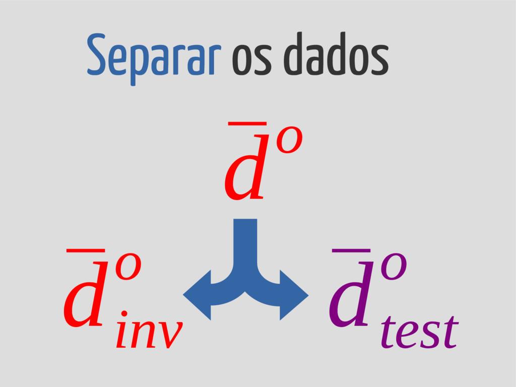 Separar os dados ¯ d inv o ¯ d test o ¯ do