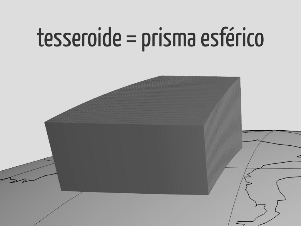 tesseroide = prisma esférico
