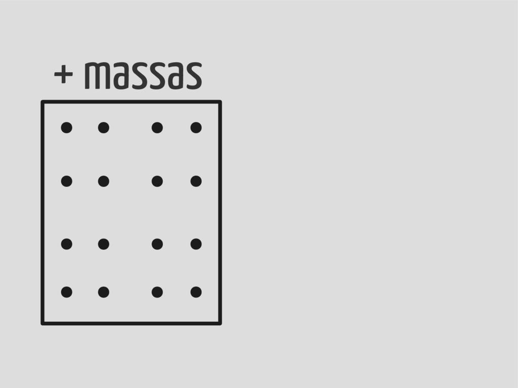+ massas
