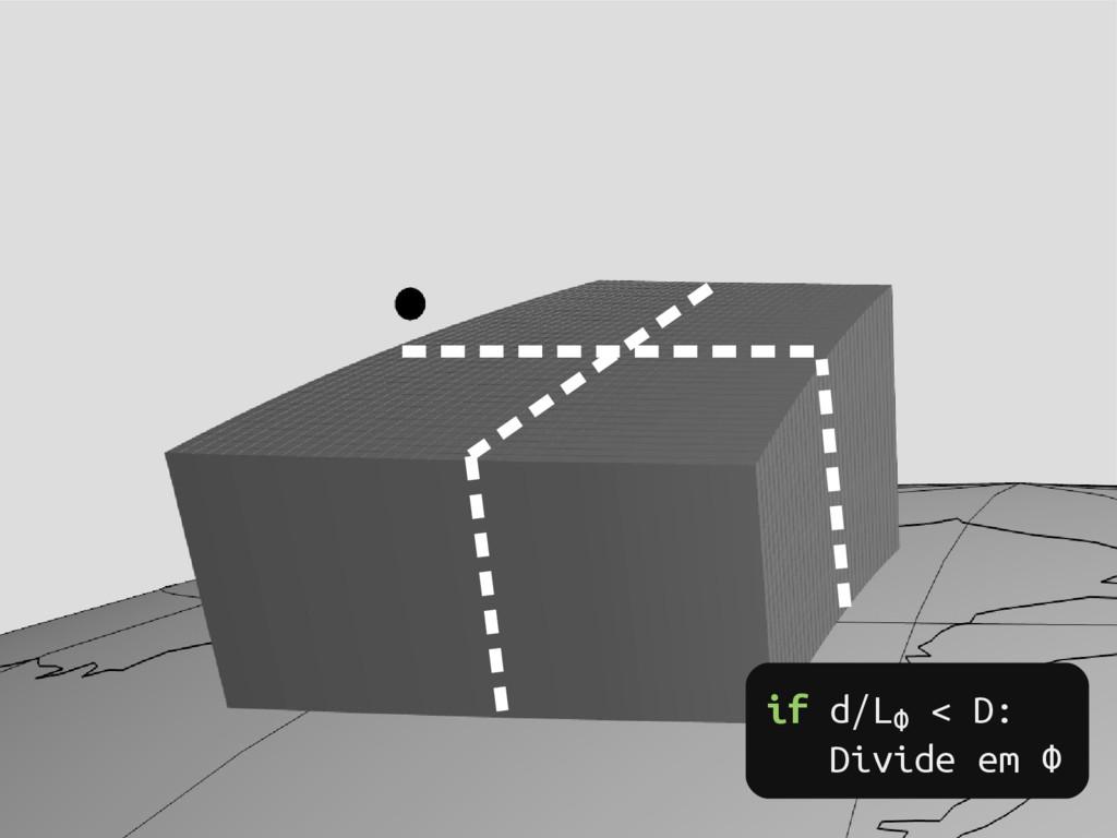 if d/LФ < D: Divide em Ф