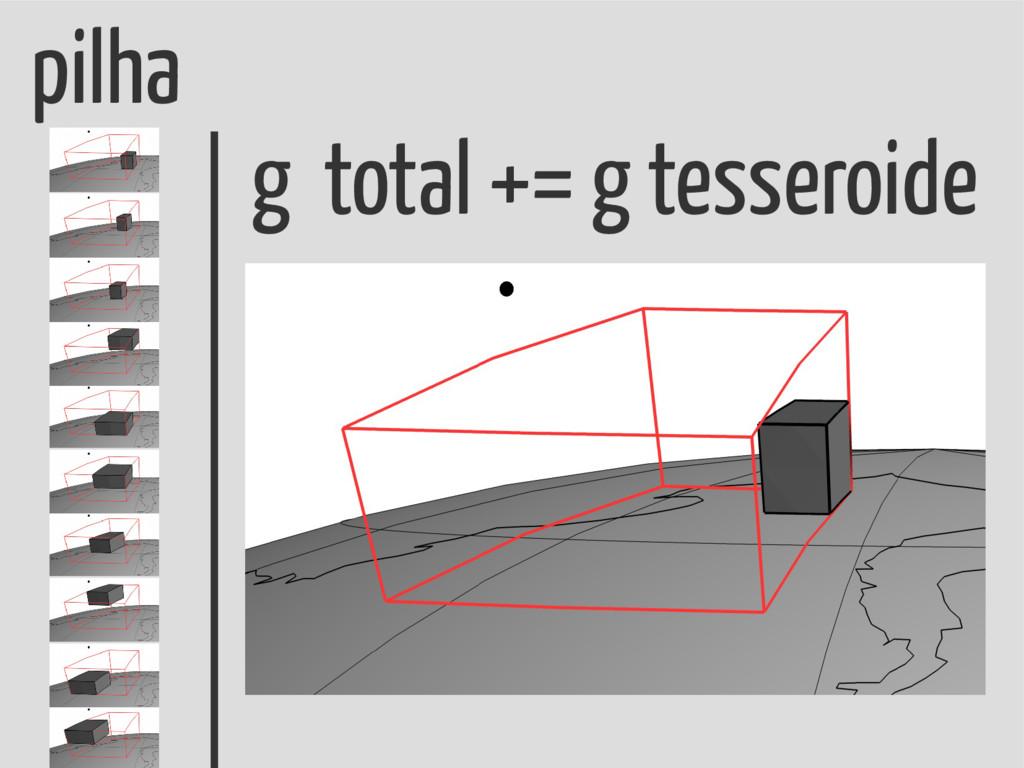 pilha g total += g tesseroide