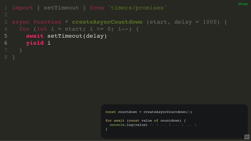 import { setTimeout } from 'timers/promises' as...